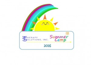 summer camp with rainbow